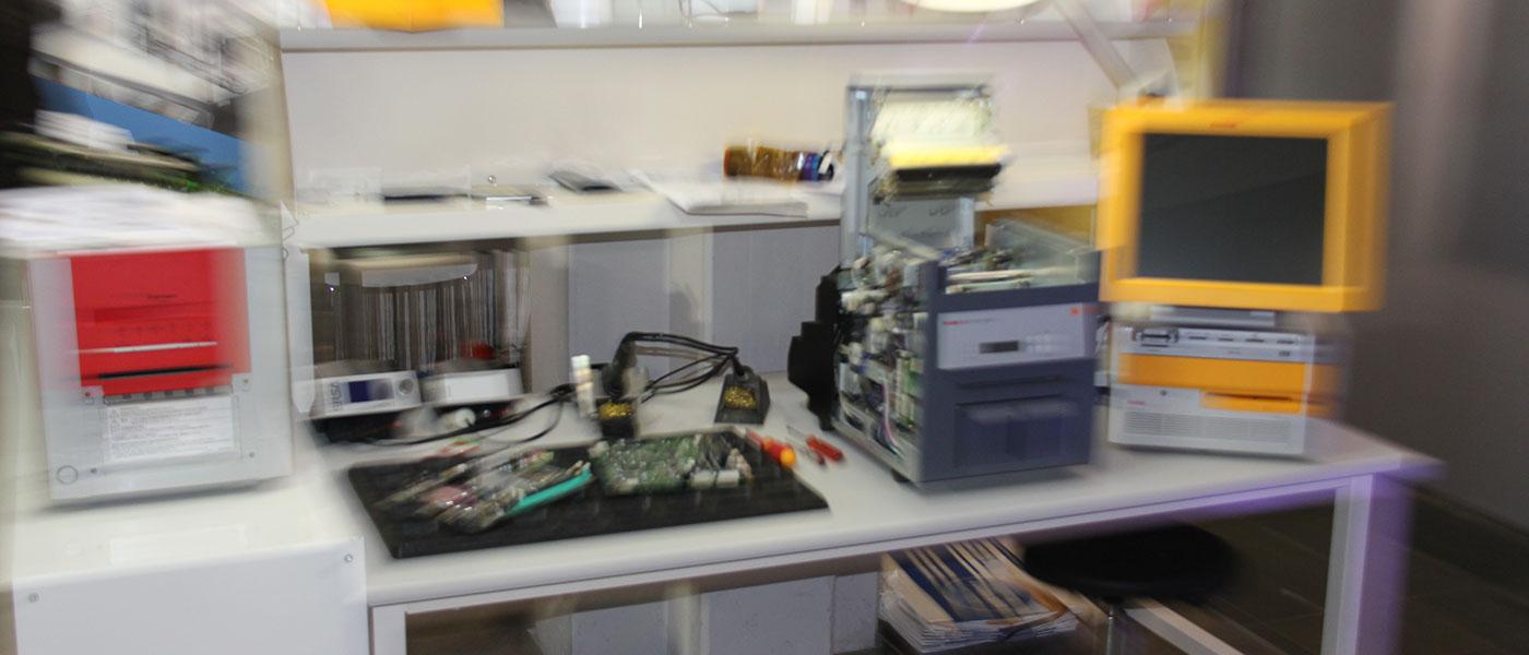 Unscharfe Druckerwerkstatt
